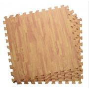 Amaz-Hub Wooden(Color) Style Floor MAT/ Kindergarten Floor MAT (Interlocking) Exercise Mat| Puzzle Mats|Solid Foam Playmat Kids Safety Play Floor Multi Color- 60CM X 60CM X 10mm - 4pcs / Pack