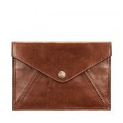 Maxwell-Scott hellbraune Damen Reisemappe aus Leder - Ortona - Reisedokumententasche, Reisebrieftasche, Reisepasscover, Reisepassetui