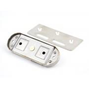 304 rvs schuifdeur haak lock, Voor aluminiumlegering Houten deuren, enkelzijdige lock, Oppervlak montage, Hardware Sloten MyXL