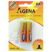 Baterije Agena punjive R6 AA 1000mAh B2