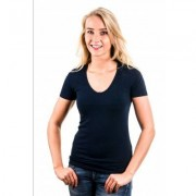 Garage T-Shirt Ladies V-Neck Navy ( art 0702)