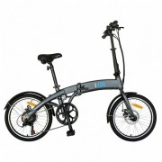 "Bicicleta electrica pliabila Carpat I-ON I1005E, Motor 250W, viteza 25km/h, roti 20"", cadru aluminiu, frane mecanice disc, 6 viteze (Gri/Albastru)"
