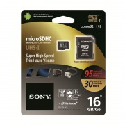 Micro SD Card, 16GB, Sony, Class10, 1xAdapter (SR16UXA)