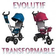 Trike Tricycle Swift 3 Roues 1-5 Ans Enfant Bébé Poussette Evolutif Smart Rouge