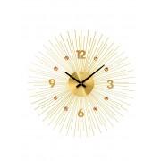 AMS Horloge murale AMS Coloris or jaune