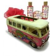 Lady Cotton Rose Van Flower (Bath Set in Metal Van) flori (Bath Set in Metal Van)