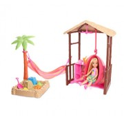 Set Barbie Travel cu papusa Chelsea - Tiki Hut Playset