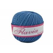 Fir de tricotat sau crosetat - Fire Bumbac 100% FLAVIA ROMANOFIR BOBINA ALBASTRU 1232