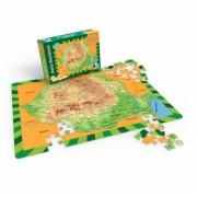Puzzle educativ Harta Romaniei, 100 piese Noriel