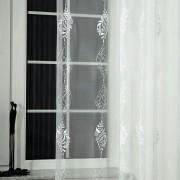 Elba, hímzett organza függöny anyag, fehér - 290