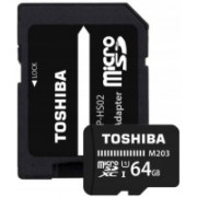 Toshiba M203 64 GB MicroSDXC Class 10 100 MB/s Memory Card(With Adapter)