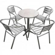 Aluminijumska baštenska garnitura okrugli sto