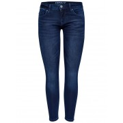 ONLY Coral Superlow Ankle Jogg Skinny Fit Jeans Kvinna Blå