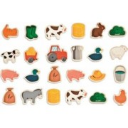 Jucarie copii Janod Fridge Magnets - Farm