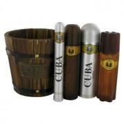 Fragluxe Cuba Gold Eau De Toilette Spray + Eau De Toilette Spray + Body Spray + After Shave Gift Set Men's Fragrance 465703