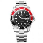 WINNER Heren Dress horloge Polshorloge mechanische horloges Automatisch opwindmechanisme Kalender Lichtgevend Roestvrij staal Band Luxueus