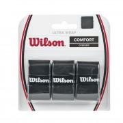 Set overgrip Wilson Ultra Wrap, negru, 3 bucati