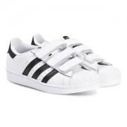 adidas Originals Superstar Foundation Velcro Sneakers Vit Barnskor 33 (UK 1)