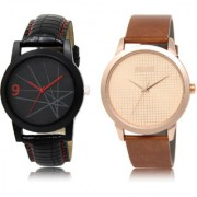 The Shopoholic Black Rose Gold Combo Treny and Precious Black And Rose Gold Dial Analog Watch For Boys Mens Casual Watches