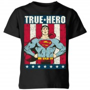 DC Camiseta DC Comics Superman True Hero - Niño - Negro - 3-4 años - Negro
