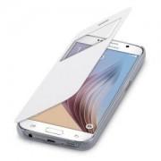 kwmobile Flipový kryt s oknem pro Samsung Galaxy S6 - bílá