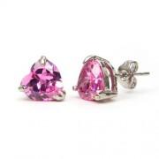 Yasmin Swarovski kristályos szív alakú fülbevaló - Pink