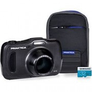 Praktica Digital Camera Luxmedia WP240 20 Megapixel Graphite + 16GB Micro SD Card + Case