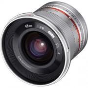 SAMYANG 12mm F/2.0 NCS CS - FUJI X - ARGENTO - 2 Anni Di Garanzia