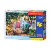 Puzzle Printesa pe Unicorn, 100 piese