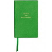 "Smythson Panama Notebook Emerald ""Travel and Experiences"""