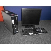 Desktop Dell Optiplex 755 SFF, Procesor Intel Core2 Duo E6550, 2.33Ghz, 3GB ram, 160gb HDD  Mouse si tastatura Monitor 17""