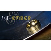 Ash and Ember Gold Beveled Size 7 (2 Rings) by Zach Heath - Tric