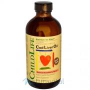 Ulei din Ficat de Cod 237 ml cu gust de capsuni