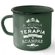 Caneca Esmaltada Camping Terapia UC0702 - Guepardo