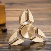 Fidget Spinner Tri-sided, koppar guld
