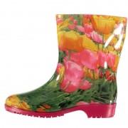 Apollo Halfhoge dames regenlaarzen tulpen print 41 - Regenlaarzen