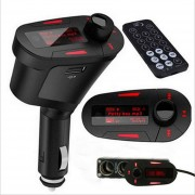 ER LCD Car Kit Bluetooth Reproductor MP3 Transmisor FM Modulador SD MMC USB Remoto Rojo.