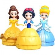 Angel Impex 3 in1 Princess Doll Assembling And Deassembling Collection From An Oval Shaped Case