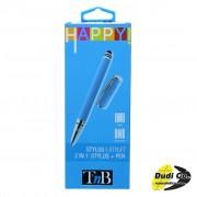 "Tnb stylapybl olovka za ekrane osetljive na dodir 2in1 ""happy"" plava"