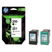 HP Pack ahorro SD412EE: HP 350 tinta negro + HP 351 tricolor