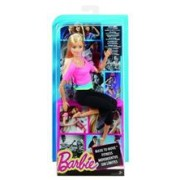 Papusa Barbie Endless Moves Doll With Pink Top