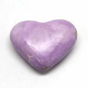 Inima din Piatra Naturala Stichtit 58x44 mm - (XXL) - Unicat