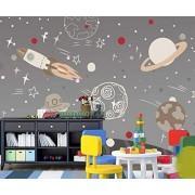 LIWALLPAPER Personalizado Papel Pintado 3d Murales Papel Tapiz Sala De Estar Decoración de Pared Wallpaper/Nave Espacial De Dibujos Animados Dibujados A Mano 300cmX210cm