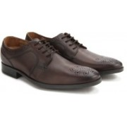 Clarks Kalden Edge Brown Leather lace up For Men(Brown)