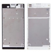 iPartsBuy Front Housing with Adhesive Sticker for Sony Xperia T3(White)