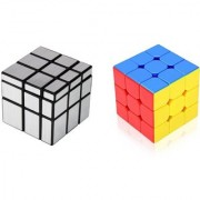 Magic Rubik Silver Mirror Cube 3x3 Combo Puzzle Learning and Brainstorming Game Toy