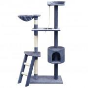 vidaXL Arbre à chat avec griffoirs en sisal 150 cm Bleu foncé