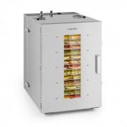 Klarstein Pro Master Jerky 16, szárítógép, 1500 W, 40 - 90 °C, 15órás időzítő, nemesacél, ezüst (DHY6-MasterJerky16)