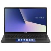 Лаптоп, Asus Zenbook Flip, 14 инча IPS FHD, UX463FLC-WB501T, Screen Pad, Intel Core i5-10210U (6M Cache, up to 4.2 GHz), Touch Glare, 8GB LPDDR3, 512G SSD, NVIDIA GeForce MX250 2GB, Сив, 90NB0NY1-M01940