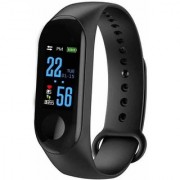Samsung Galaxy J7 Pro Compatible M3 Intelligence Bluetooth OLED Touch Display Wrist Smart Band Heart Rate By GO MANTRA